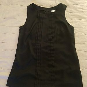 Black, sleeveles blouse